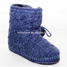 Fuzzy bola neve botas quentes para a cor azul do inverno
