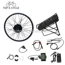 Europe 250 W ebike kit de conversion 28 pouces bafang hub moteur ebike kit avec arrière rack batterie vélo électrique conversion kit