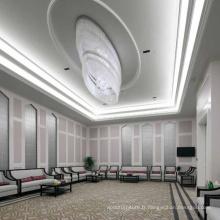 Lumière de lustre en cristal de salle de conférence de conception de goutte de pluie