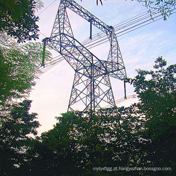220 Kv Coruja Tipo Ângulo de aço Torre de transmissão de energia