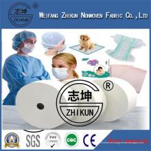 Tela no tejida médica del Spunbond de PP del hospital disponible no tejido