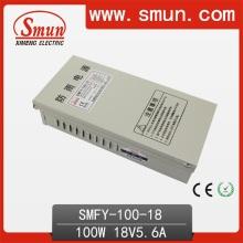 Fuente de alimentación a prueba de lluvia de 100W 18VDC 5.6A (SMFY-100-18) con IP40