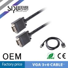 SIPUO mejor calidad largo 10 metros cable VGA 3 + 4