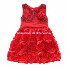 Children Embroidery Knee Length Tulle 3 Year Old Girl Dress Girl Fancy Frocks