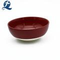 Bol de soupe en céramique de forme ronde à la main de sécurité