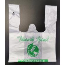 Bolsas de compras de plástico 100% biodegradable PLA no tóxico