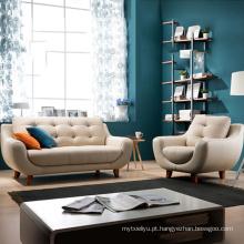 Sofá de couro moderno do conjunto de sofá de sala de apartamento pequeno