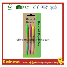 Cheap Paper Ballpoint Pen for School and Office Supply