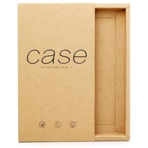 Hot Stamping Black Kraft Paper Packaging Phone Box