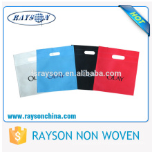 Thermocompression Printing Plain Top Handle Non Woven D Die Cut Bag