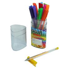 12 PCS Gel Ink Pen com cor fluorescente em uma caixa de PP