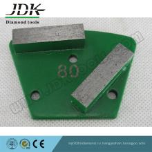 2 прямоугольных алмазных сегмента трапециевидных шлифовальных башмаков