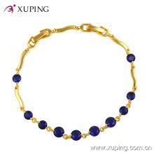 Xuping Moda 24k Ouro Gemstone CZ Jóias Pulseira -71459
