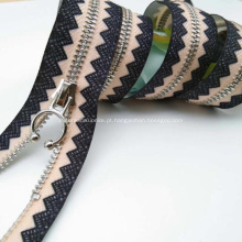 Zipper de latão para pendurar sacos e jeans