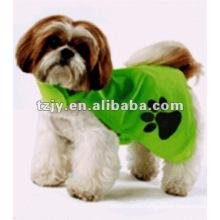 Green 100% polyester dog reflective safety vest
