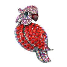 Culorful Strass Zink Legierung Papagei Design Brosche für Party
