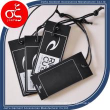 Fancy Custom Printed Cardboard Tags/Hang Paper Tag with Eyelet