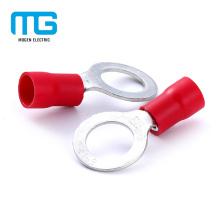 Terminal aislada anillo de cobre amarillo de la venta caliente del PVC aislado para la conexión del alambre
