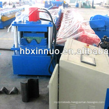 China manufacturer 2 waves high speed way safety guardrail road barrier highway guarding rail roll forming machine
