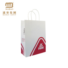 Custom Logo Twisted Handle Gift Shopping Packaging Kraft White Craft Paper Carry Bags Manufacturer