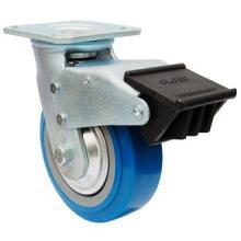Swing PU Caster com travão duplo (azul)