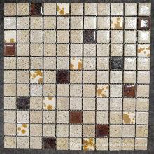 Ice Crack Surface Ceramic Glazed Mosaic Tile Shower Floor Installation