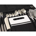 Senderismo BBQ 24pcs set Camp Kitchen Set de cubiertos