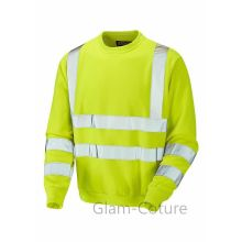 High visibility good quality safety yellow sweatshirts