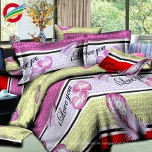 100% nuevos conjuntos de sábanas de tela de algodón de poliéster moderno