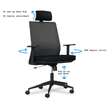 Chaise moderne Chaise de bureau pivotante de luxe Big Boss