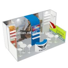 Detian offre stand de conception de stands d'exposition portable avec des étagères