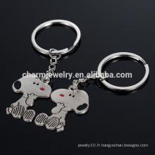 Cadeaux créatifs exquis créatifs Amour clé clé clé petit chien porte-clés porte-clés mode style YSK013