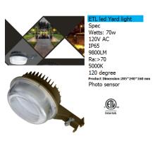 Фотоэлемент датчика Сид 70w для освещения двора с 9800lm