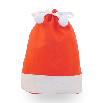 Ribbon Ball Red Christmas Hat Bolsa de regalo de Navidad