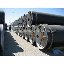 3PE Tubo de acero de capa anticorrosión para aceite y gas natural.