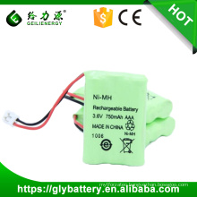 Wholesale rechargeable battery 750mah 3.6v ni-mh battery pack
