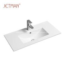 Easy to clean retangular basin