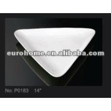 """14 """"placa de triángulo de porcelana platos guangzhou eurohome- P0183"""