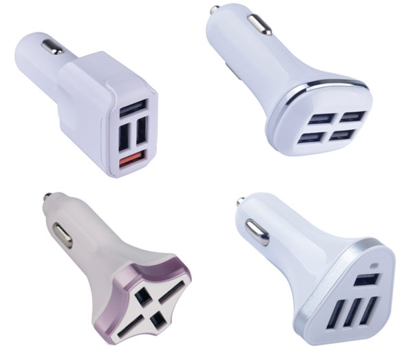 4-USB port car charger 4