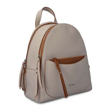 Branded Designed Leather Women Backpack Set Con Monedero
