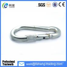 Gancho de presión con tornillo galvanizado eléctrico din5299 forma D