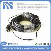 Câble SVGA VGA avec câble audio