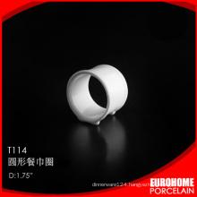 suitable for restaurant durable white napkin rings for wedding