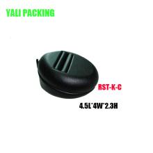 Kleine schwarze PU-Schmuck Ohrring Haken stehen Großhandel (ES-KC)