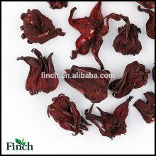 FT-009 Dried Roselle Gongura Hibiscus sabdariffa Wholesale Scented Flavor Flower Herbal Tea