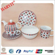 Best Home Porcelain Giftware 3PCS For One Person Breakfast or Dinnerware Kids Set