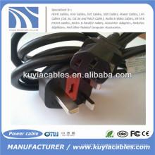 Câbles d'alimentation BS / British 18 AWG l Cordon d'alimentation (IEC320C13 à BS 1363)