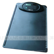 A4 Taille 8 chiffres Dual Power Clipboard Calculator avec règle (LC632)
