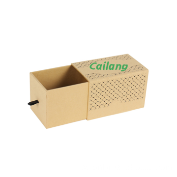 Kraft Paper Slipcase Packbox med logotyp