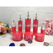 Цилиндрические пластиковые акриловые косметические банки и бутылки